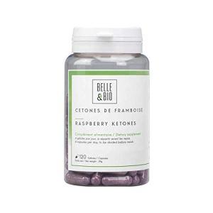 Belle&Bio – Cétones de Framboise – 120 gélules – 700 mg – Brûleur et Capteur de graisses – Fabriqué en France
