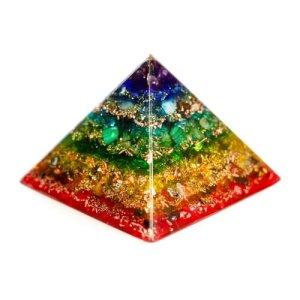 pranakr istall® regenbogenlicht–orgonit Pyramide d'Oz Orgonite, Plastique, Cheops L