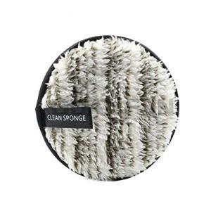 Buimin Puff de nettoyage Démaquillant démaquillant en microfibre nettoyage naturel Démaquillant paresseux en microfibre double face lisse feuilletée (Gris)