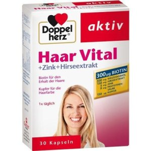 DOPPELHERZ Haar Vital+Zink+Hirseextrakt