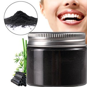 Prevently dent de charbon de bambou Poudre Poudre de blanchiment des dents, Charbon de bambou naturel Saveur de menthe poivrée, Dentifrice blanchissant dents retirer Halitosis plaque Dentifrice, Noir