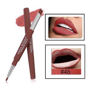 Tefamore Miss Rose Double-Fin Lining Durable imperméable Lip Liner Stick Pencil 8 Couleur (Y-E)
