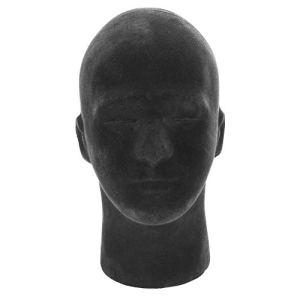 Tête de mannequin en mousse, modèle noir de tête de mannequin en mousse, perruques de chapeau, chapellerie affichant le présentoir