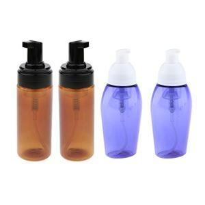 Fenteer 4x 80/150 Ml Bouteille De Pompe Moussante Liquide Contenants de Savon Distributeur Bouteille De Mousse Rechargeable