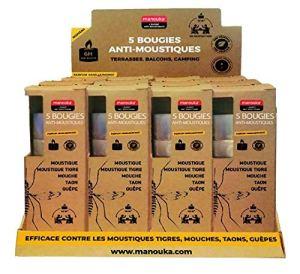 MANOUKA Bougies Répulsives Anti-moustiques – Lot de 4