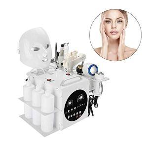 Soins de la peau en oxygène, 9 EN 1 machine de beauté titanique améliorée, nettoie hydrate les pores hydratants et rétrécissables, salon de rajeunissement de la peau avec dispositif anti-rides (EU)