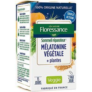 Floressance Gélule Végétale Mélatonine + Plantes Sommeil Réparateur