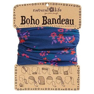 Natural Life Boho Bandeau Band, Navy/Pink Floral by Natural Life