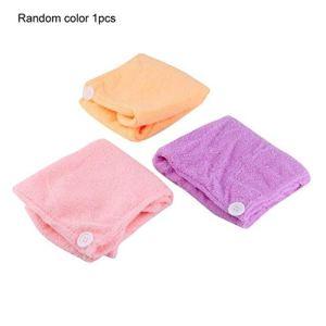 Séchage des cheveux Serviette Séchage de la tête Bonnet Maquillage Cosmétique Capuchon Outil de Bain (couleur aléatoire)