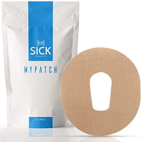 Sick Products Lot de 25 patchs adhésifs compatibles avec Dexcom G6/G5/G4, imperméables prédécoupés CGM pour une fixation et une protection longue durée