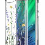 Suhctup Coque Comaptible avec Xiaomi Redmi Note 8T Étui Houssee,Transparent Motif Fleur [Antichoc Protection des Coins] Crystal Souple Silicone TPU Bumper Case Cover pour Redmi Note 8T,A18
