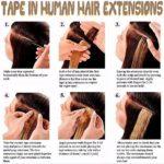 Extension Adhesive Naturel 20 Pcs Rajout 100% Vrai Cheveux Humain Lisse (#60 Blond platine, 18″(45cm))