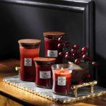 WoodWick grande bougie parfumée en jarre avec mèche qui crépite, Chaï à la cannelle, Temps de combustion jusqu'à 130 heures