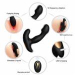 Sex Modes Masseur P-rostate Mâle Rechargeable Étanche sans Fil Masseur Complet du Corps Poignée Percussion Thérapeutique pour Les Muscles Endoloris et
