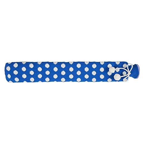 Bouillotte, bouillotte extra longue avec housse amovible tricotée pour le réchauffement des pieds à la taille – B
