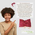 Dr. Berger 1 compartiment de noyaux de cerise – 30 x 20 cm – Coussin chauffant pour micro-ondes – Garnissage 900 g de cerises – Coussin aromatique pour ventre, lit, fabriqué en Allemagne – Rouge