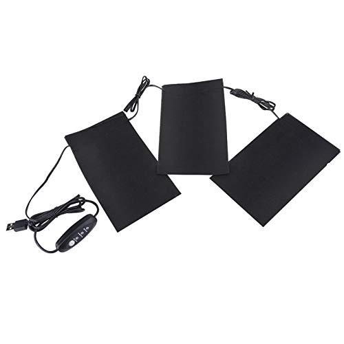 FECAMOS Coussin Chauffant électrique léger Pliable et Durable Doux USB Chauffant Ensemble Coussin Chauffant électrique pour Pique-Nique extérieur