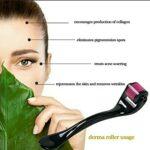 Dermaroller, microneedling – Jade Roller, Jade Roller Visage, Rouleau de Jade et Gua Sha Set, & Le meilleur Sérum à l'Vitamine C pour le visage contient Acide Hyaluronique Hydratant 4 en 1