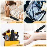 H&L Mini Magic Wand Massager, sans fil portable électrique portatif, 20 modes * 8 vitesses, massage corporel personnel pour le dos, les épaules, les jambes, les bras