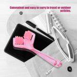 Rouleau de massage sans douleur en plastique rose minceur 2 rouleaux pour femme beauté