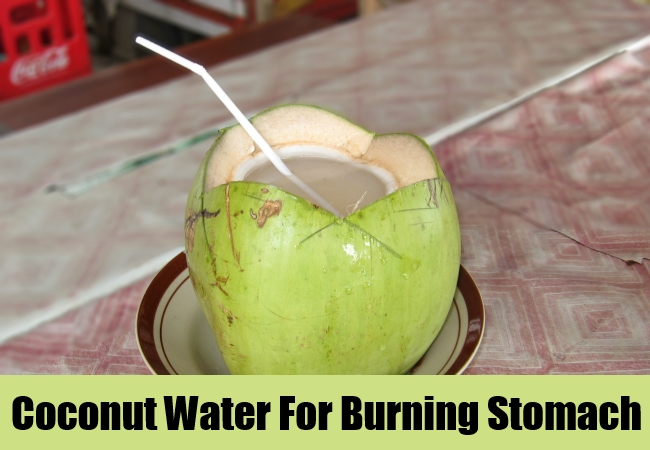 Coconut Water For Burning Stomach