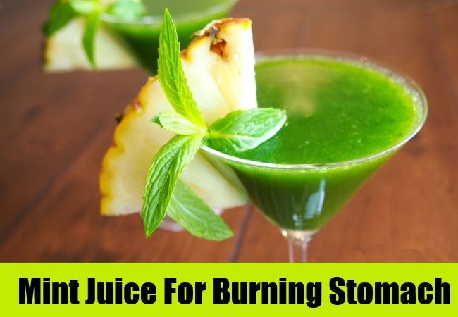 Mint Juice For Burning Stomach
