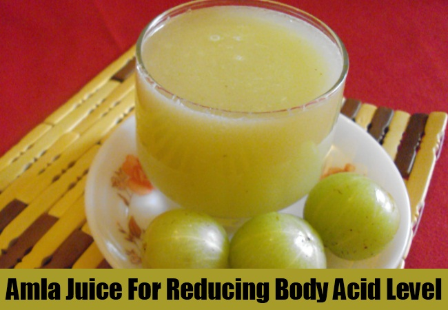 Amla Juice For Reducing Body Acid Level