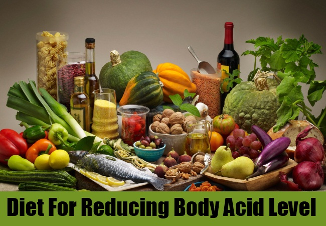 Diet For Reducing Body Acid Level