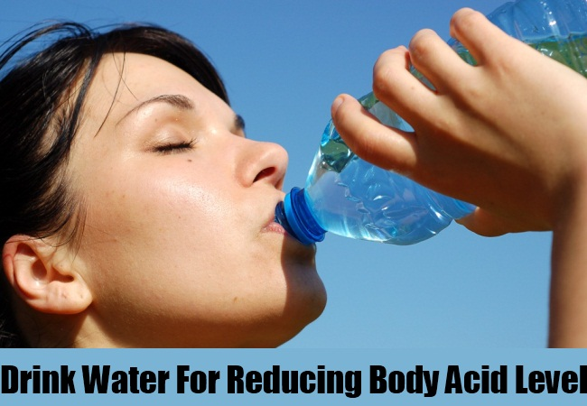 Drink Water For Reducing Body Acid Level