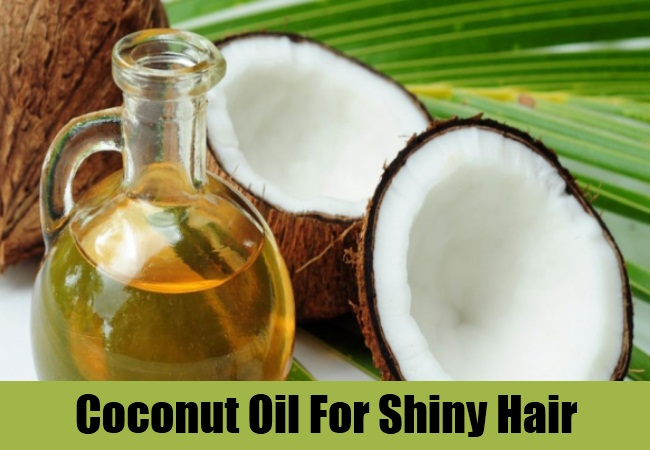 Coconut Oil For Shiny Hair
