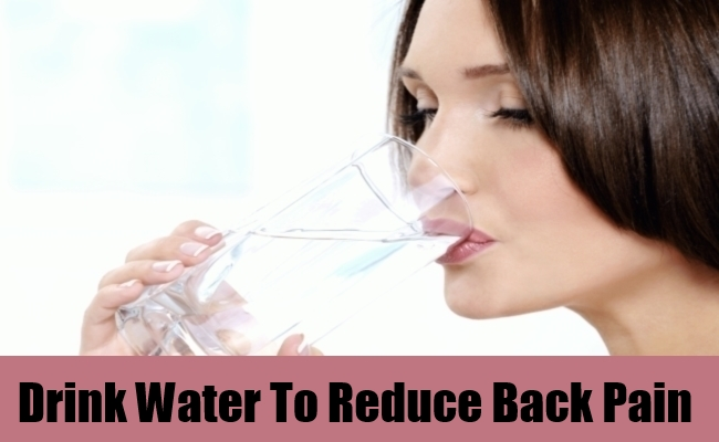 Drink Water To Reduce Back Pain