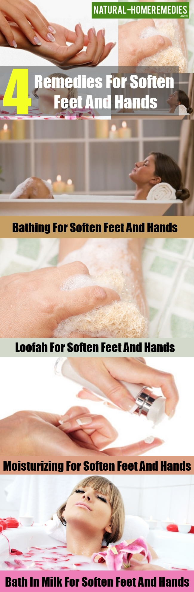Remedies For Soften Feet And Hands