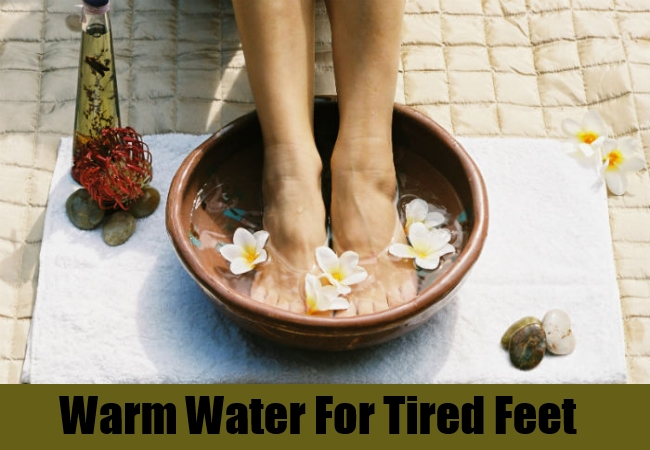 Warm Water For Tired Feet