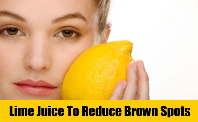 Lime Juice To Reduce Brown Spots