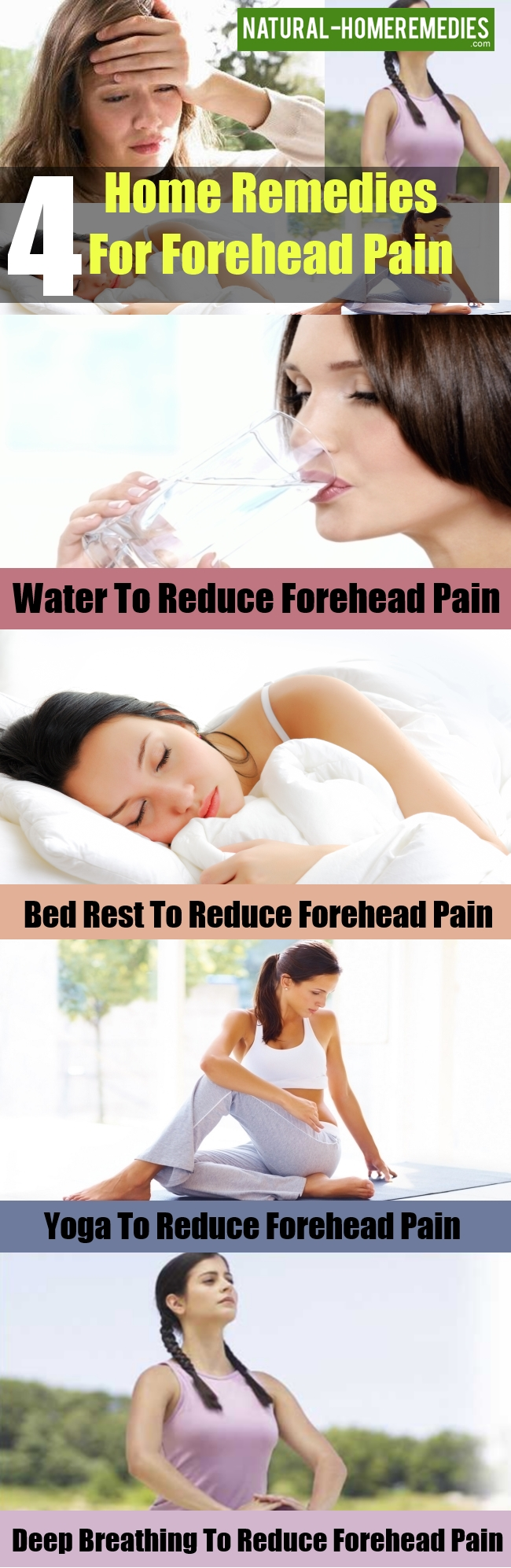 Home Remedies For Forehead Pain