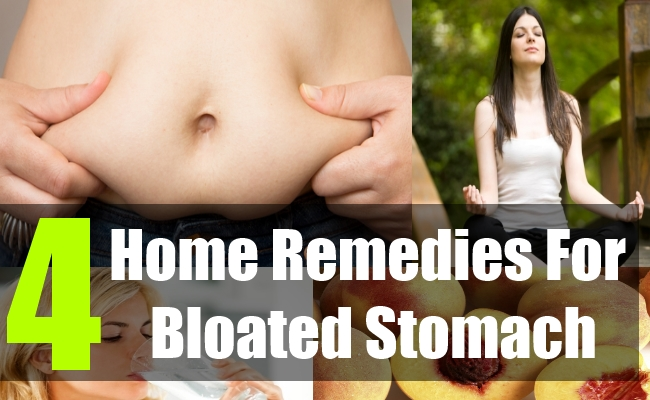 4 Home Remedies For Bloated Stomach