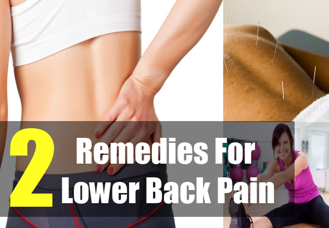 2 Remedies For Lower Back Pain