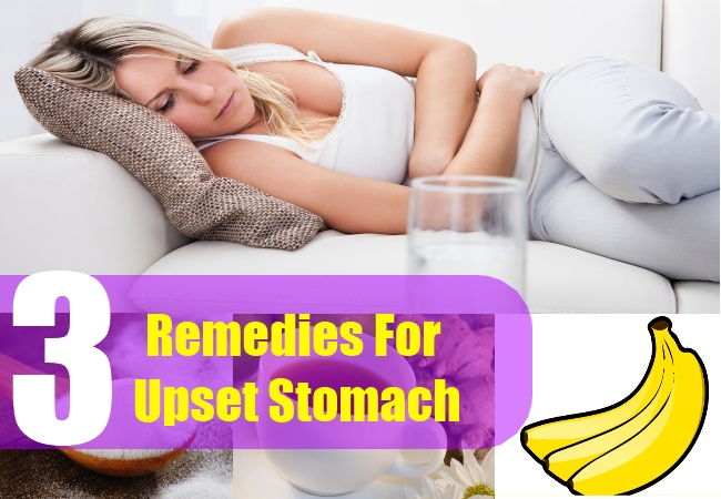 3 Remedies For Upset Stomach