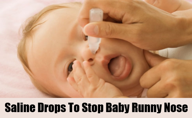 Saline Drops To Stop Baby Runny Nose