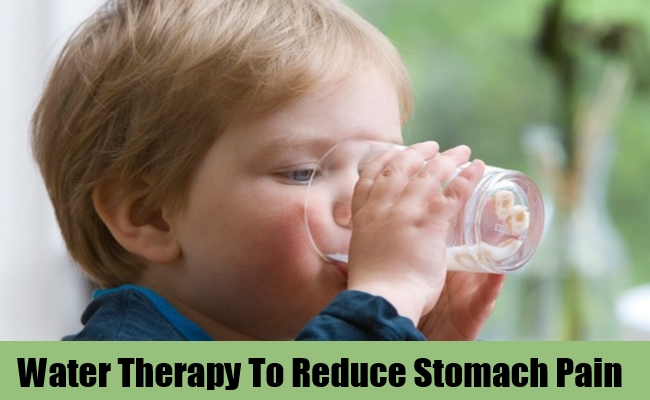 Water Therapy To Reduce Stomach Pain