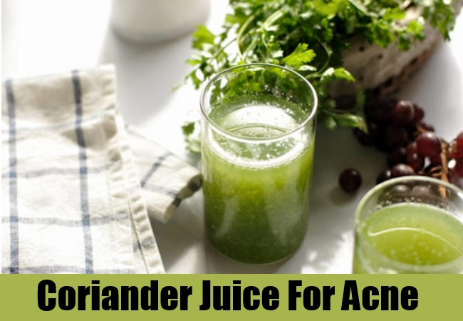 Coriander Juice For Acne