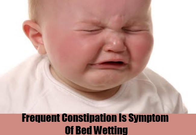 Frequent Constipation Is Symptom Of Bed Wetting