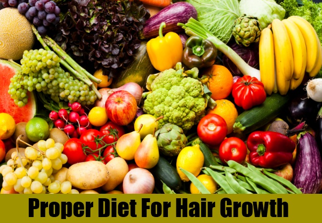 Proper Diet For Hair Growth