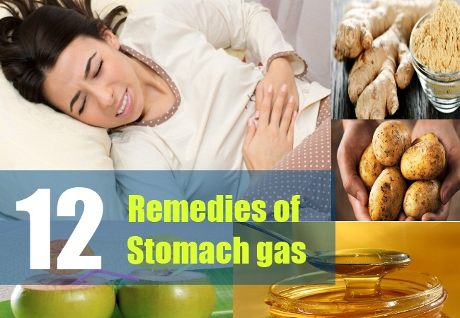 12 Remedies of stomach gas