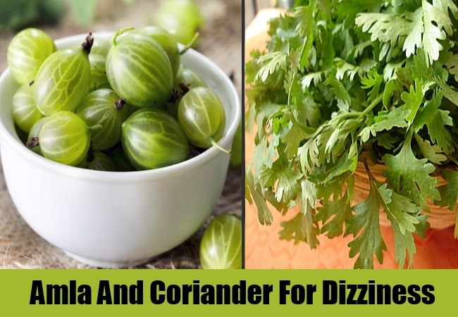 Amla And Coriander For Dizziness