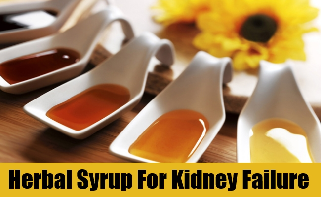 Herbal Syrup For Kidney Failure