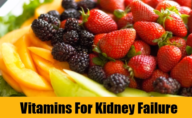 Vitamins For Kidney Failure