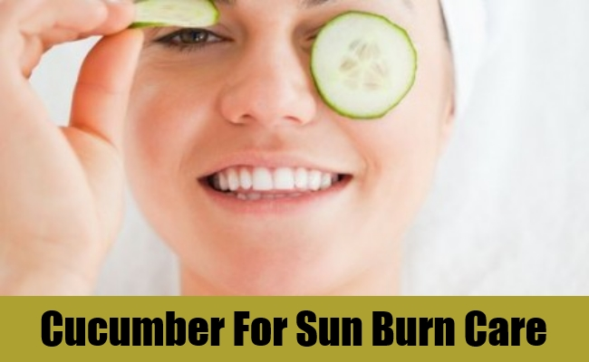 Cucumber For Sun Burn Care