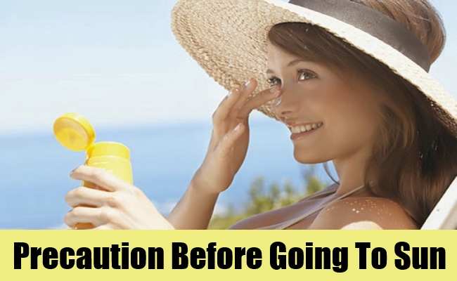 Precaution Before Going To Sun