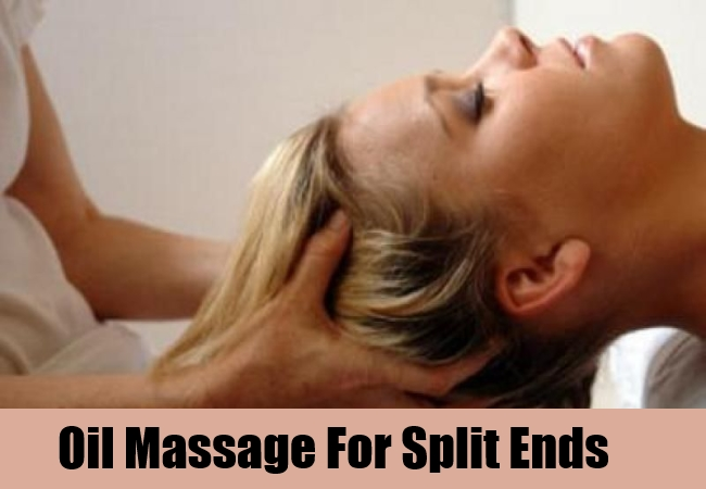 Oil Massage For Split Ends